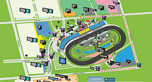 Maps Seating Charts Homestead Miami Speedway