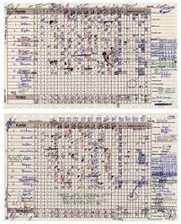 Baseball Game Scorecard 23 Best Scorecards Images Baseball Scores Baseball Score