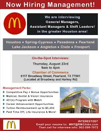 General Manager, Assistant Managers, Shift Leaders Job At Mcdonald's ...