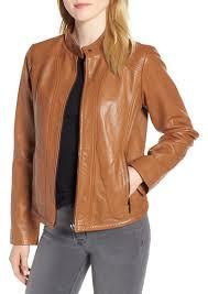 bernardo scuba leather jacket