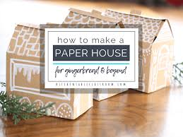 How To Make A Paper House Free House Template The Kitchen Table