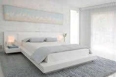 modern bedroom white. Beautiful Modern Modern Bedroom By Habachy Designs White Platform Bed Painted Brick  Wall Pale Blue Bedding Bluegray Shag Rug For Modern Bedroom White Pinterest