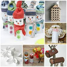 Easy Holiday Crafts For Your Kids And Kidlets  Snowman Toilet Christmas Crafts Made With Toilet Paper Rolls