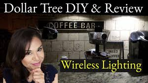 dollar tree diy wireless under cabinet lighting review home decor on a budget