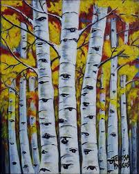 birch trees painting autumn birch trees by teresa pascos