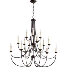 brooks oiled bronze 43 inch 15 light chandelier