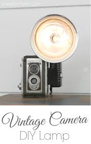 Diy Lamp How To Turn A Vintage Camera Into A Lamp Lovely Etc