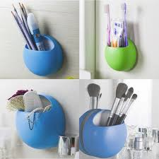 home bathroom toothbrush wall mount holder er suction cups organiz