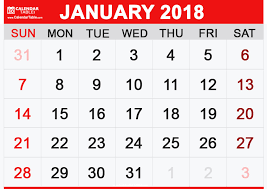 january 2018 calendar free january 2018 calendar printable 2018 calendar free download usa