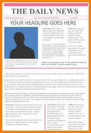 news article format 3 news article template letter format for