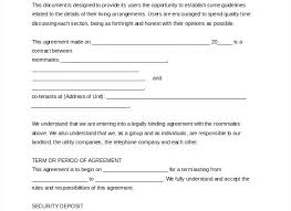 Sample Roommate Contract College Roommate Agreement Template Unique Roommate Contract
