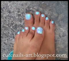 Turquoise Toe Nail Designs Fashion For Women