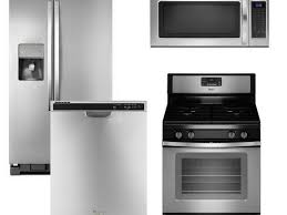 Black Kitchen Appliance Package Kitchen 4 Piece Stainless Steel Kitchen Appliance Package 00020