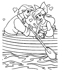 Ariel The Little Mermaid Coloring Page