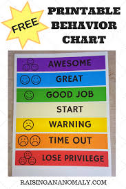 Making Choices Easy With A Free Printable Behavior Chart