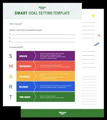 Smart Goals Template How To Write Smart Goals And Use Them At Work Kazoo