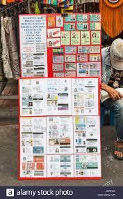 Thailand Ids Road And Stock Fake Khaosan Offering 147271567 - Photo Board Display Alamy Bangkok