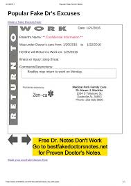 What To Say To Get A Doctors Note Fake Doctors Note Excuse Templates For Work School Pdf