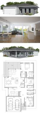 Modern Three Bedroom House Plans Modern House Plan With Covered Terrace Garage For Two Cars