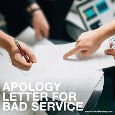 apology to customer for poor service apology letter for bad service the perfect apology