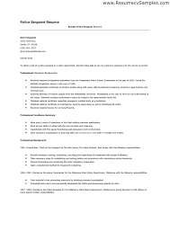 Police Sergeant Cover Letter Best Solutions Of Cover Letter For