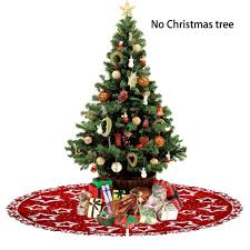Weihnachtsstern Filz Print Baum Rock 100cm