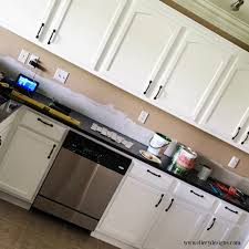 paint your kitchen cabinets white from drab to glam ellerydesigns com
