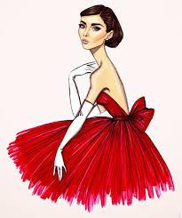 картинки девушки в платье для срисовки