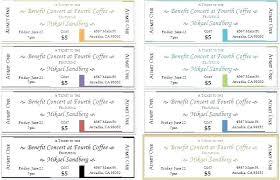Benefit Dinner Ticket Template Tickets Bbq