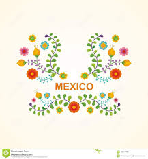colorful frame border design. Mexican Ethnic Flower Frame - Border Design Colorful P