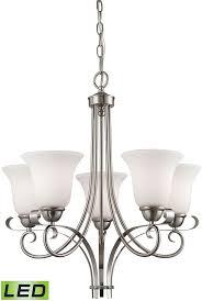 thomas 1005ch 20 led brighton brushed nickel led mini chandelier lighting loading zoom