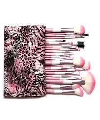 my makeup brush set pink leopard 24 piece makeup brush set
