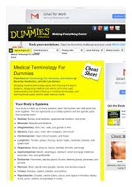 medical terminology for dummies cheat sheet by spaceduck 1 pages
