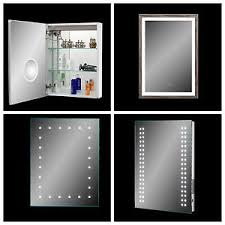 LED Illuminated Bathroom Mirror Demister Sensor Shaver Socket