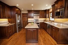 Amish Kitchen Furniture Tempting Traditional River Oak Cabinetry Design