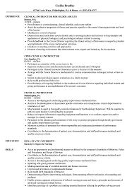 Nurse Educator Resume Clinical Instructor Resume Samples Velvet Jobs