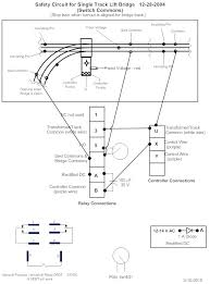 pre lift bridge at switch wiring diagram for track and relay