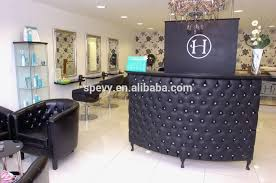 alluring hair salon reception desk black salon reception desk from trusted manufacturers