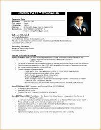 9 Sample Formal Curriculum Vitae Free Samples Examples