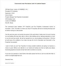 mercial Lease Termination Letter To Landlord Sample