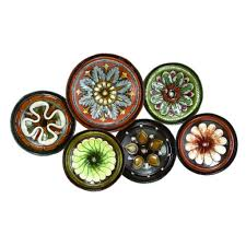 Plates Wall Decor Mediterranean Plates Wall Sculpture Wall Sculptures Wall Decor