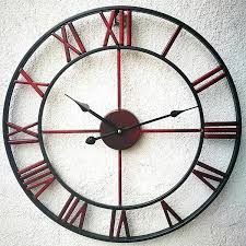 wall clock with roman numerals attention this clock does not include the second needle metal skeletal