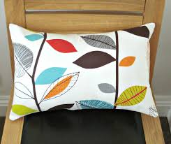 Red And Turquoise Living Room Lumbar Pillow Turquoise Blue Red Orange Yellow Green Brown Gray