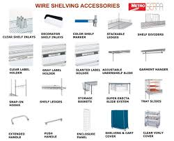 most of the wire shelving accessories can be used with both super erecta wire shelving and super adjule super erecta wire shelving systems