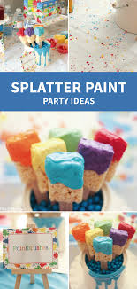 art painting birthday party ideas art party rice krispie treats and krispie treats
