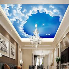 Ceiling 3D Stereo Wallpaper Starry Night Sky Photo Wallpaper Modern Design  Glitter Wall Paper Roll For