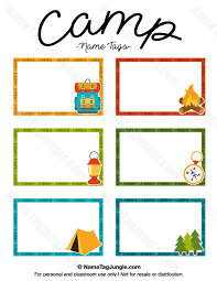 free printable camp name tags the template can also be used for creating items like