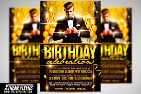 Birthday Flyers Template Birthday Flyer Template Flyer Templates Creative Market 1