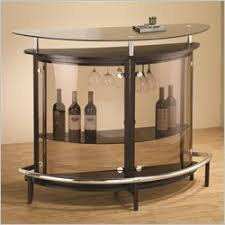 in home bar furniture. Plain Bar Coaster Contemporary Bar Unit With Smoked Acrylic Front And In Home Furniture