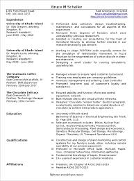 9 Production Manager Resume Precis Format